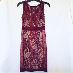 Entry - Maroon Lace Dress